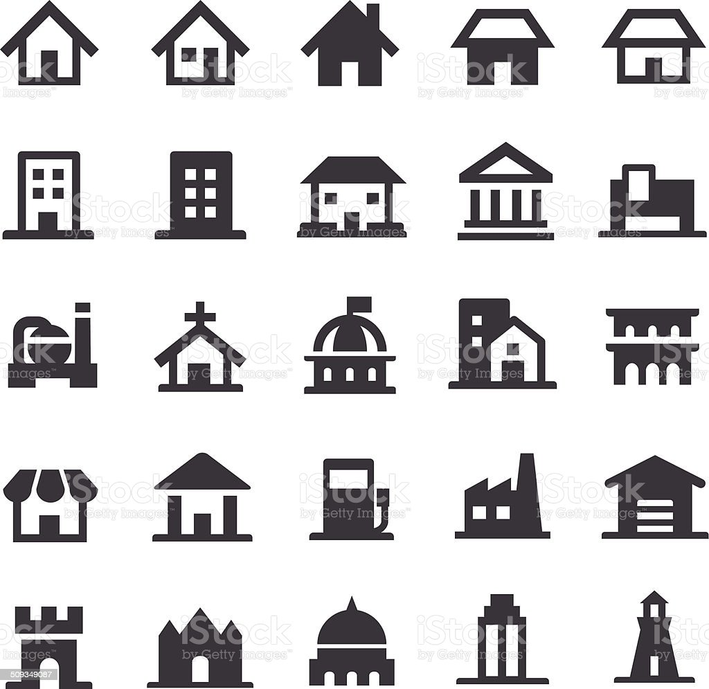 Building Icons - Smart Series vector art illustration