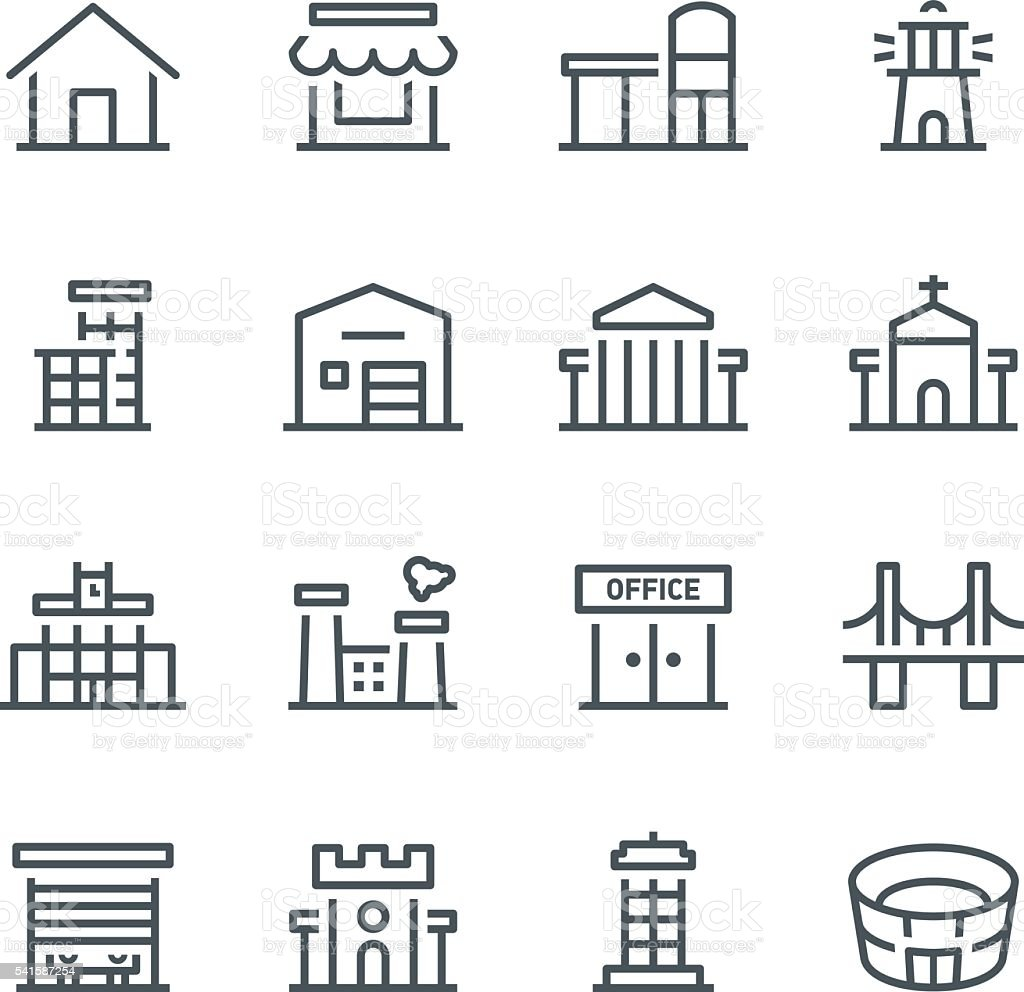 building icons stock vector art  u0026 more images of
