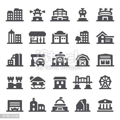 Building, real estate, icon, icon set, architecture, house, stadium