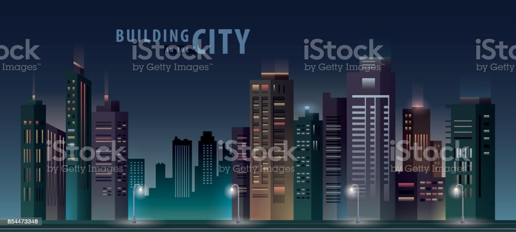 Edificio de la ciudad - ilustración de arte vectorial