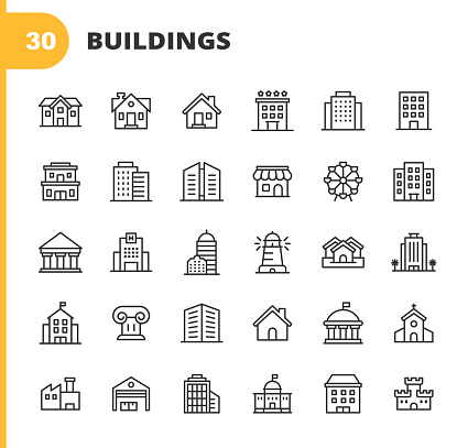construction icons stock illustrations