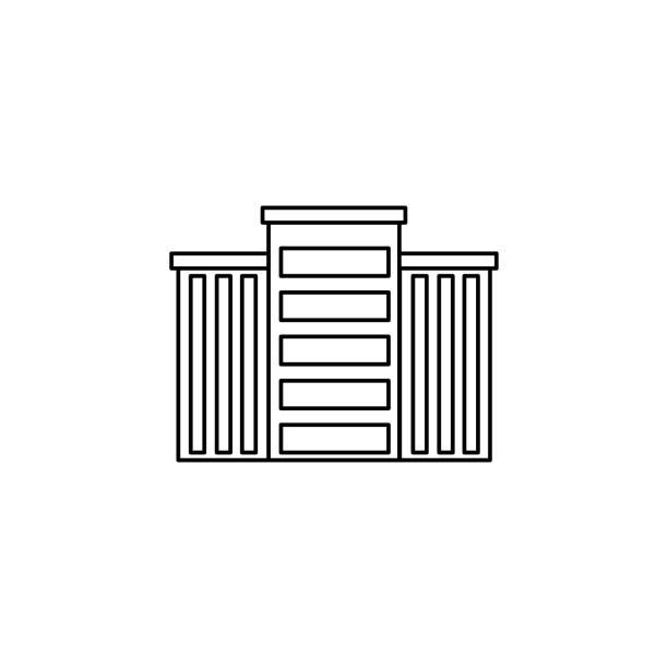 building line vector icon vector art illustration