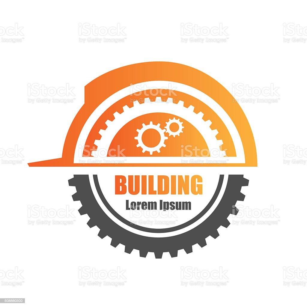Building logo vector art illustration