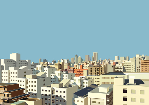 building of Japanese city