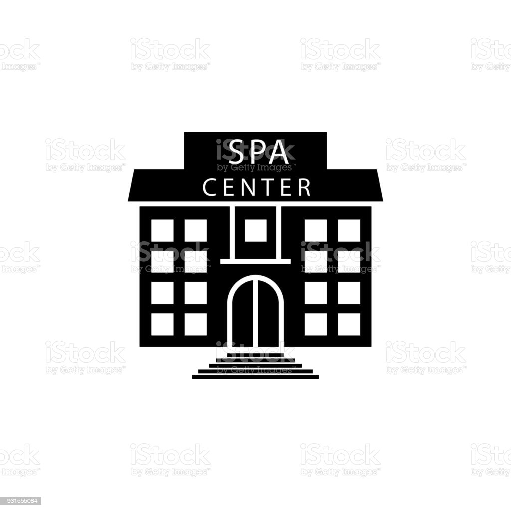 Building Of The Spa Center Icon. Element Of SPA Icon. Premium Quality  Graphic Design