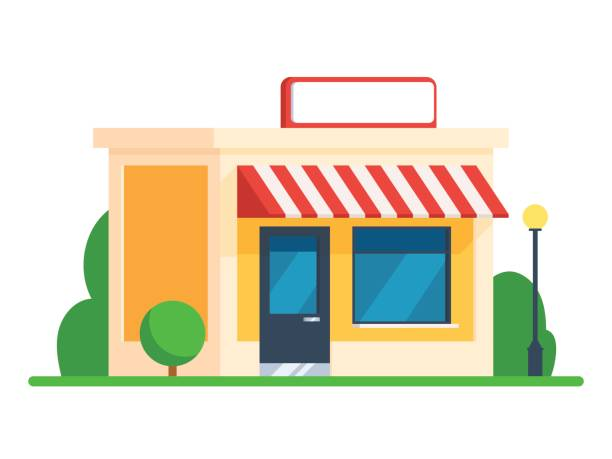 Building of the store vector art illustration