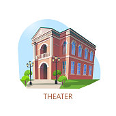 Building of theater or theatre construction