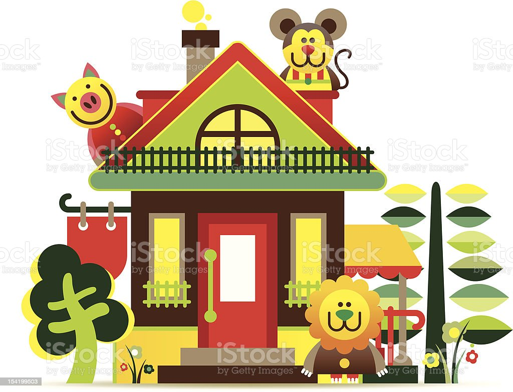 Building on a white background royalty-free building on a white background stock vector art & more images of animal