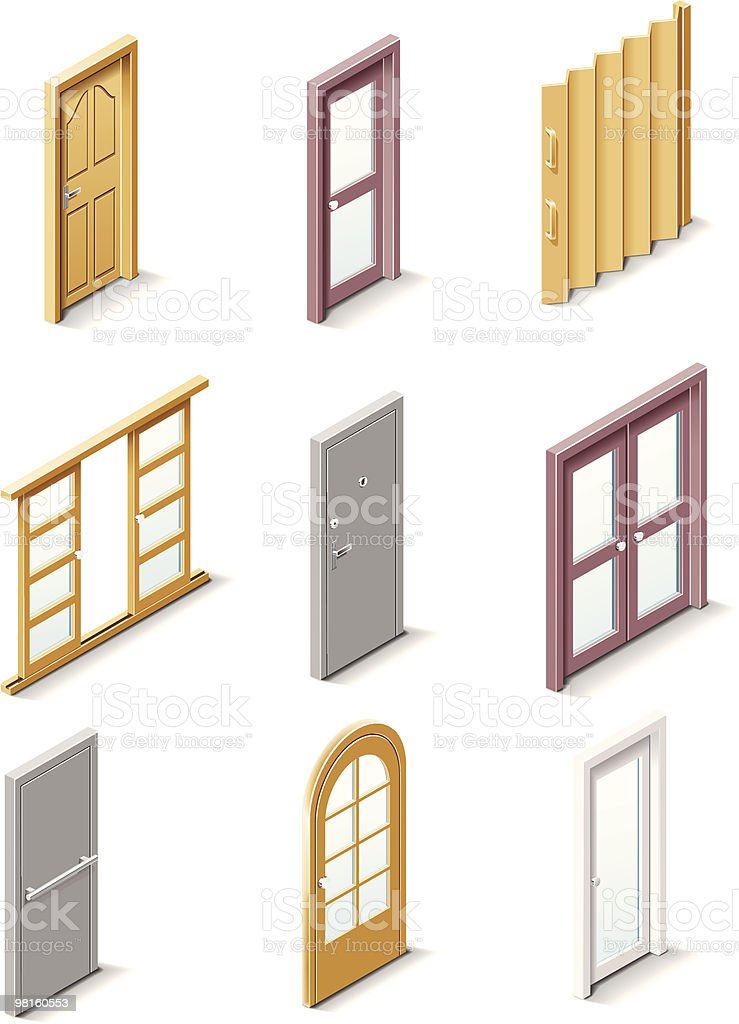 Building products icons. Doors royalty-free building products icons doors stock vector art & more images of aluminum