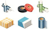 Building products icons. Insulation