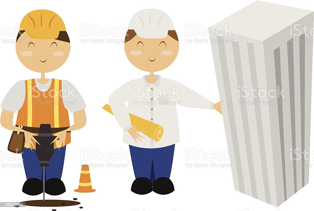 Building Professionals royalty-free stock vector art