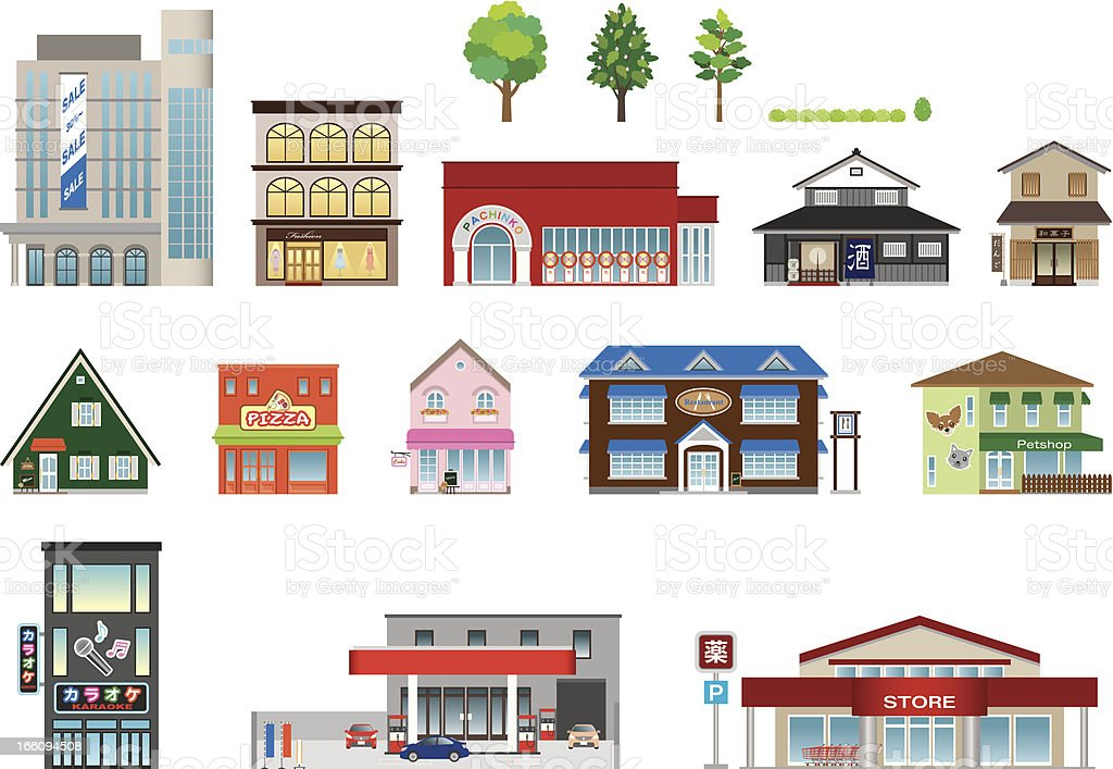 Building / shop/ Business vector art illustration