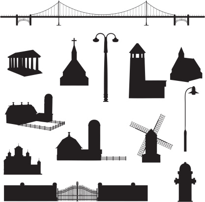Building Silhouette Collection (vector+jpg)