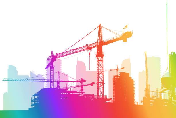 Building The City Regenbogen – Vektorgrafik