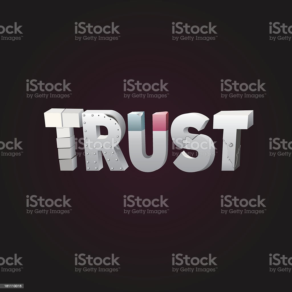 Building Trust royalty-free stock vector art