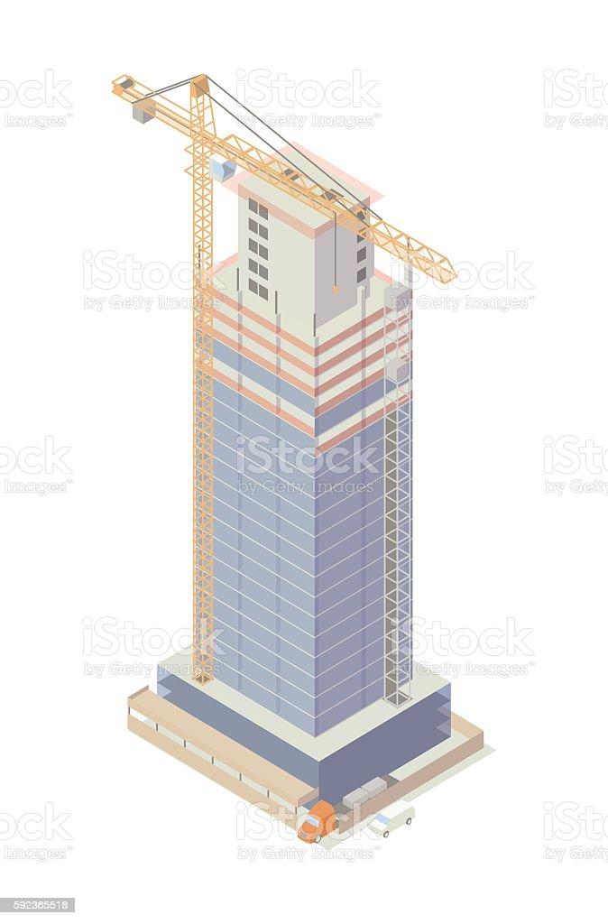 Building under construction illustration vector art illustration