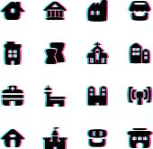 The vector files of building icon set.