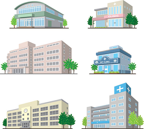 Best Medical Clinic Building Illustrations, Royalty-Free ...