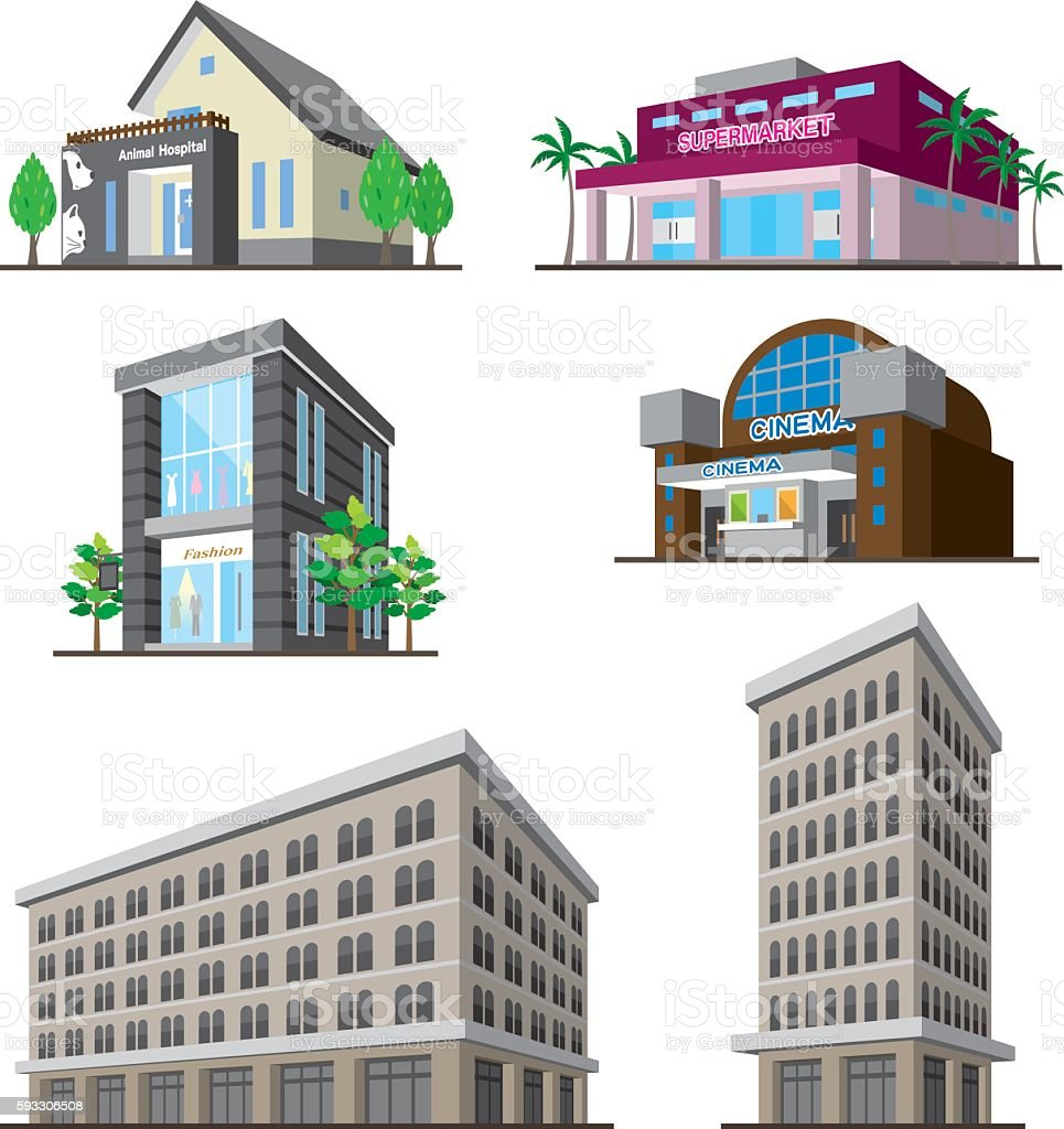 Building vector art illustration