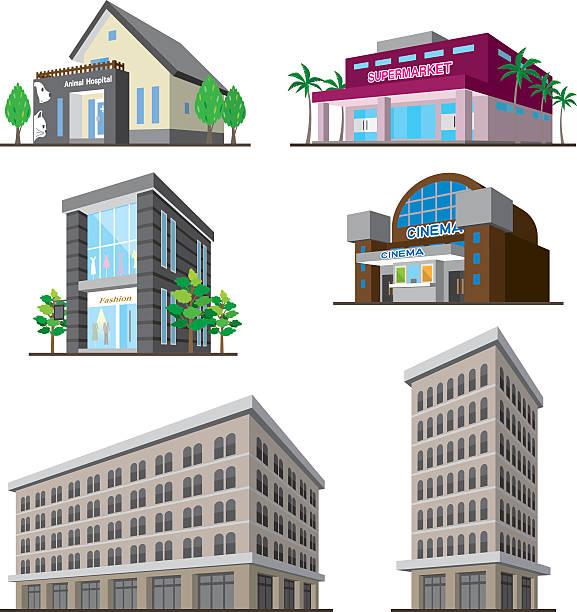 stockillustraties, clipart, cartoons en iconen met building - warenhuis