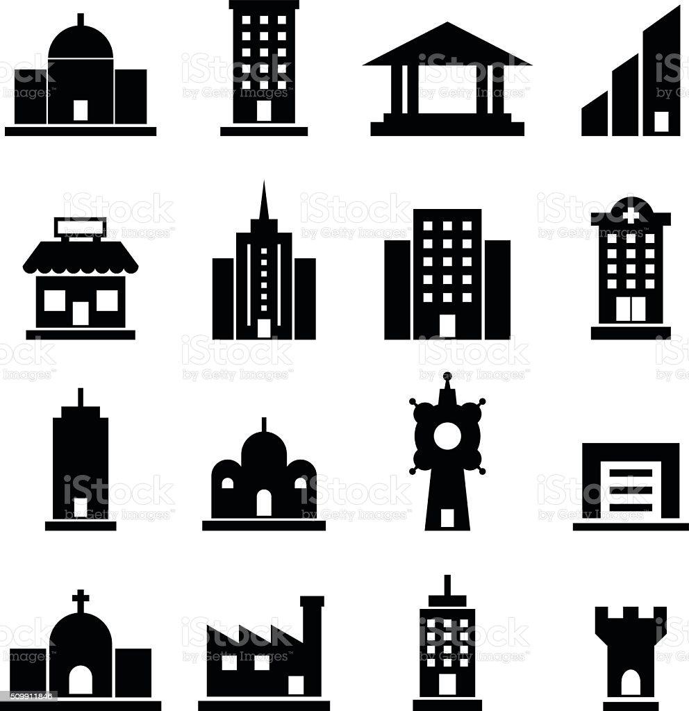 Building vector vector art illustration