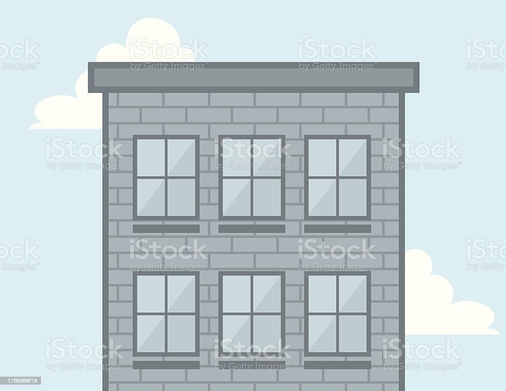 Building Windows royalty-free stock vector art