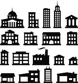 18 buildings. Vector icons for video, mobile apps, Web sites and print projects. See more in this series.