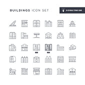 29 Buildings Icons - Editable Stroke - Easy to edit and customize - You can easily customize the stroke with