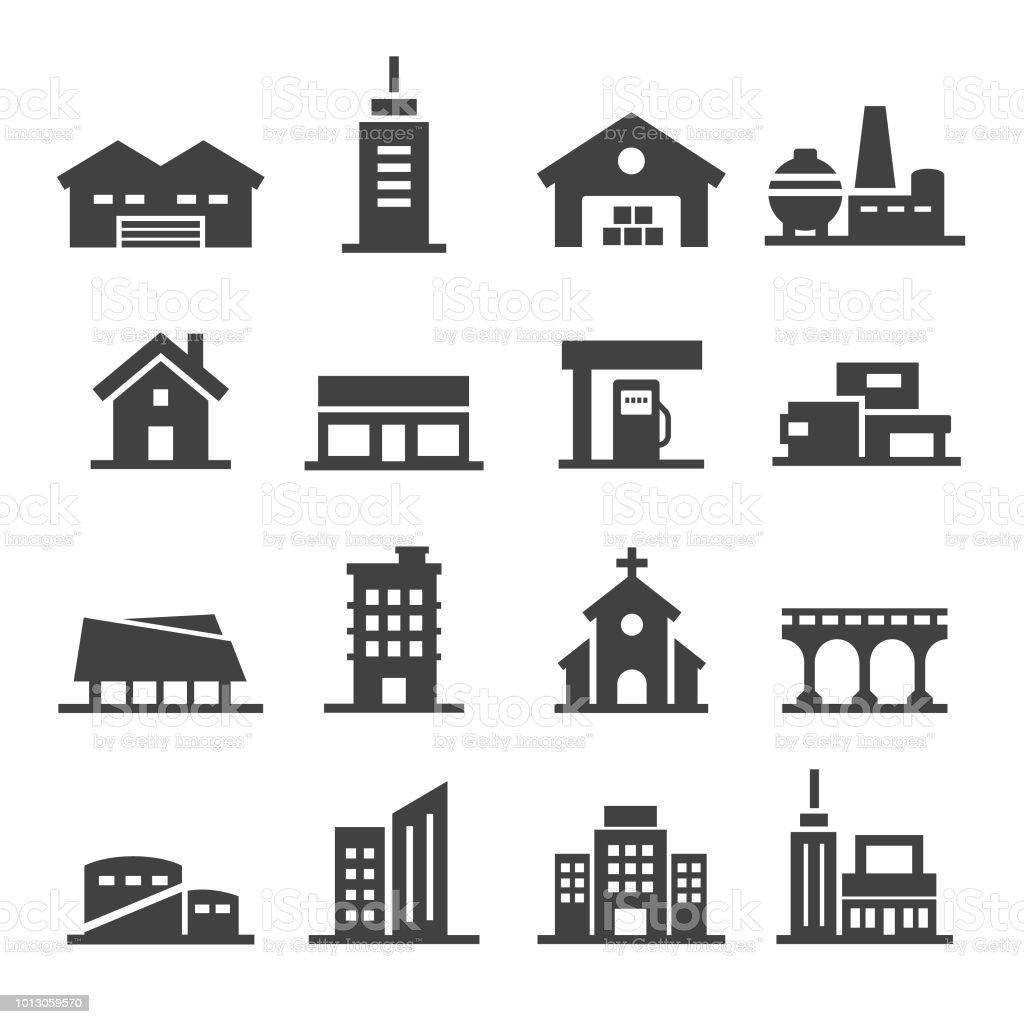 Buildings Icon - Acme Series vector art illustration