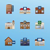 buildings icon set 3