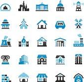 Quartico vector icons - Buildings