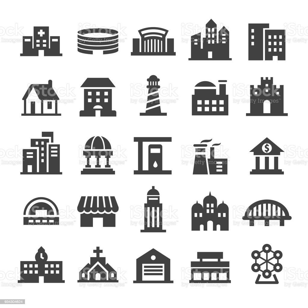 Buildings Icons - Smart Series - Векторная графика Архитектура роялти-фри