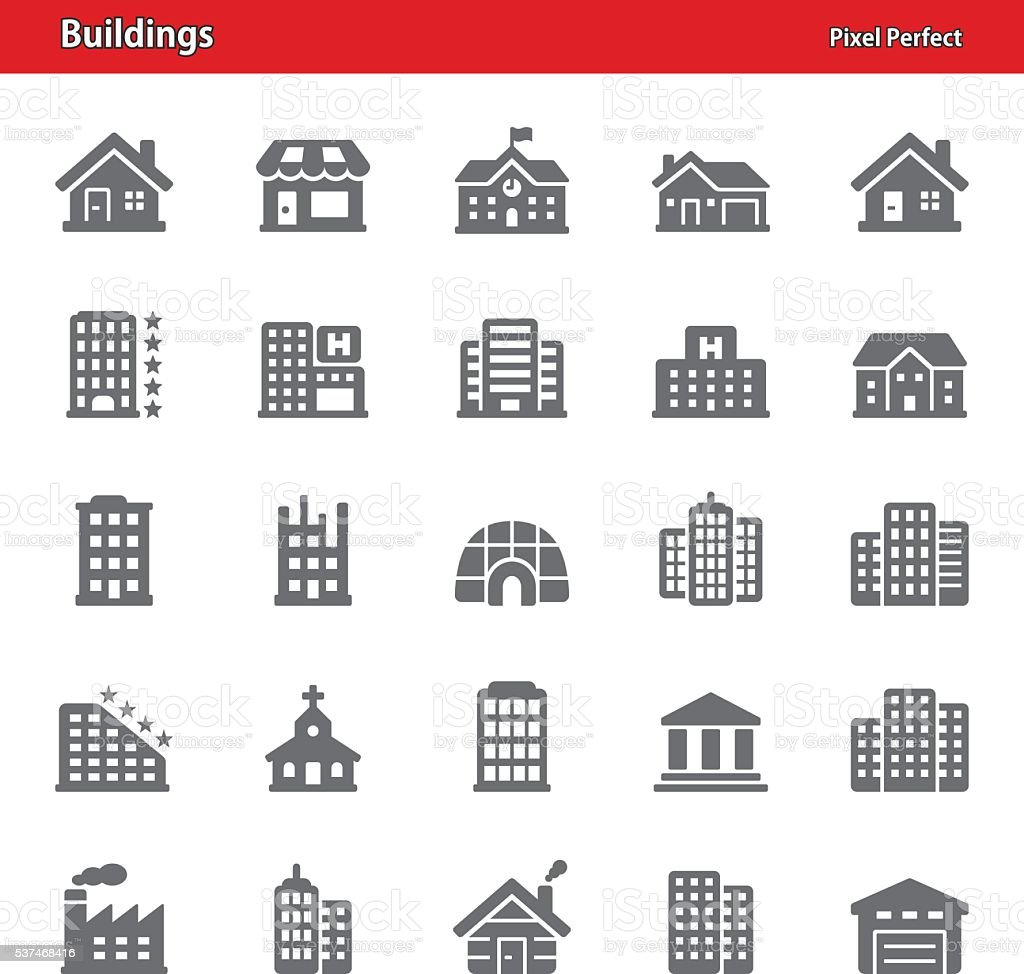 Gebäude Symbole – Vektorgrafik