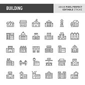 Buildings Vector Icon Set