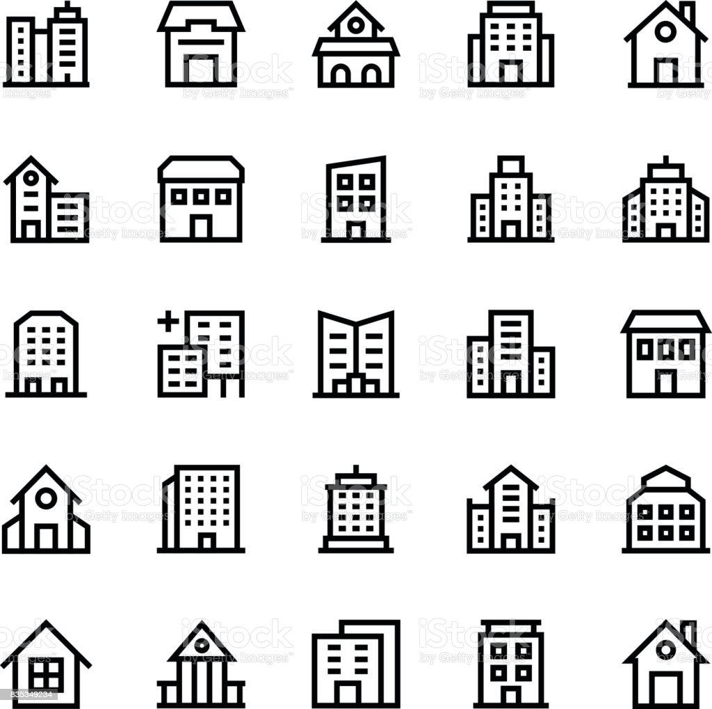 Buildings Vector Icons 2 vector art illustration