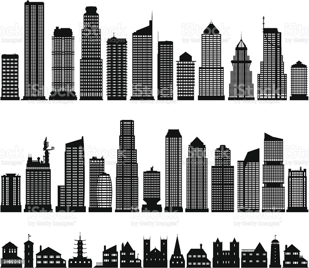 Buildings vector art illustration