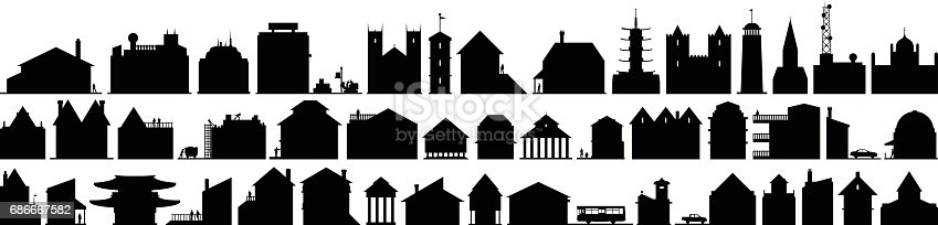 Building silhouettes.