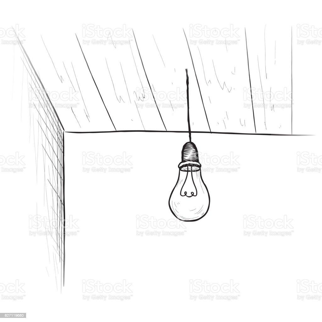 Interior Habitación Bulbo De Fondo Ilustración de Del OiuXPkZ