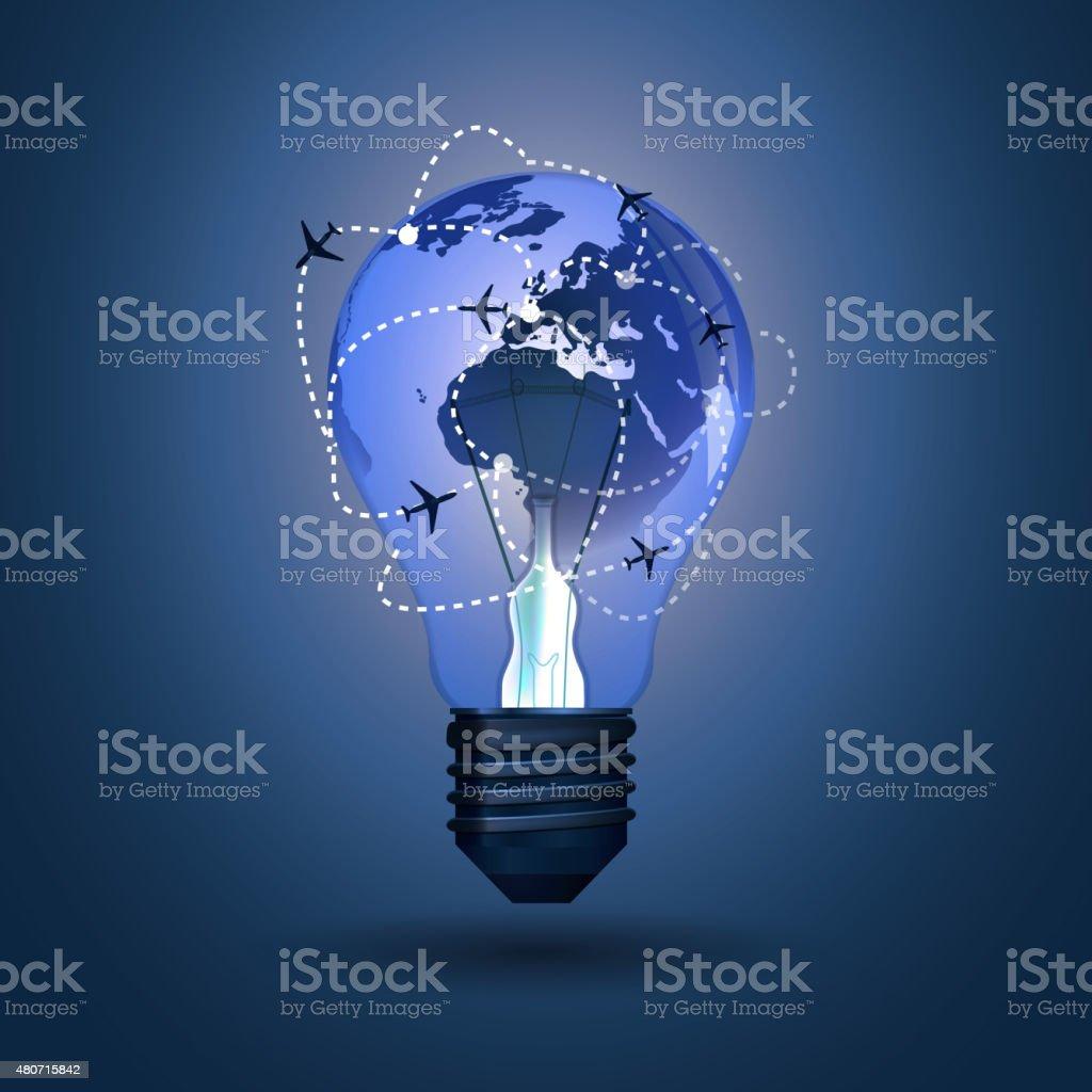 Bulb Concept vector art illustration