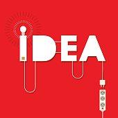 bulb electric idea illustration