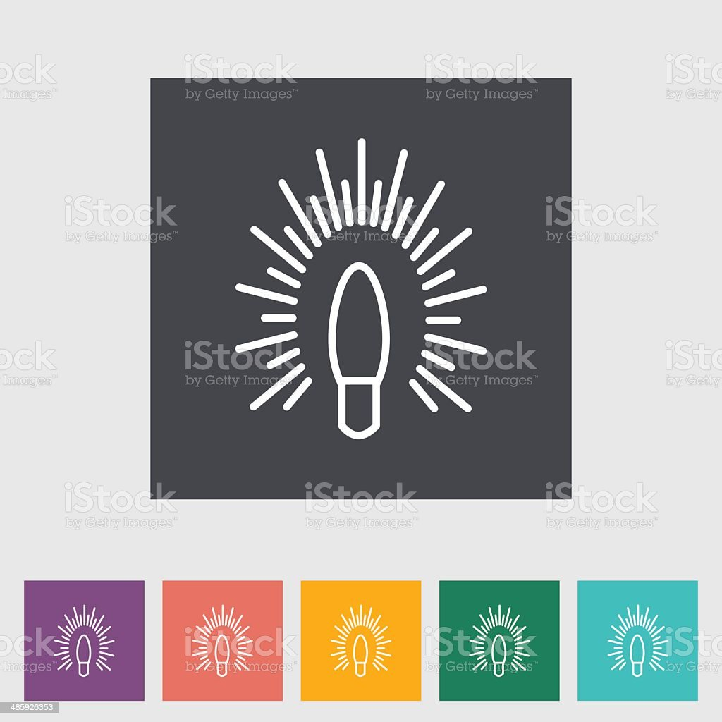 Bulb flat icon. royalty-free stock vector art