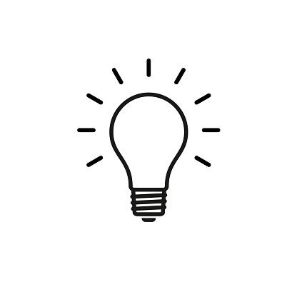 bulb icon stock vector illustration flat design clipart