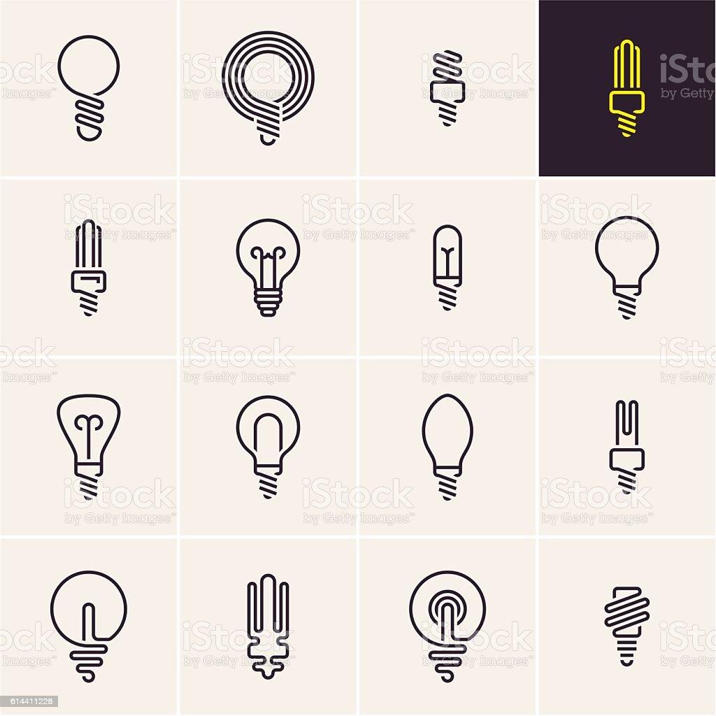 bulb icon vector art illustration