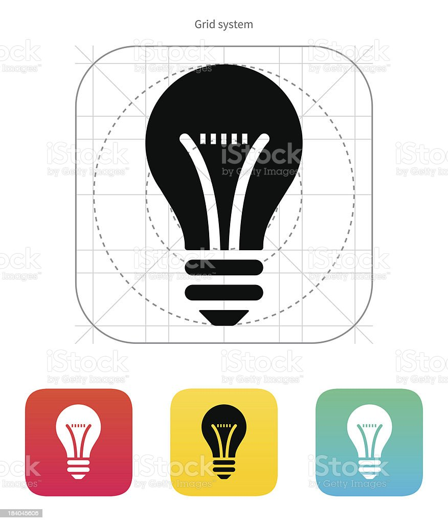 Bulb icon. Vector illustration. royalty-free stock vector art