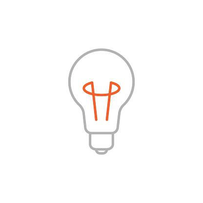 Bulb Icon with Editable Stroke