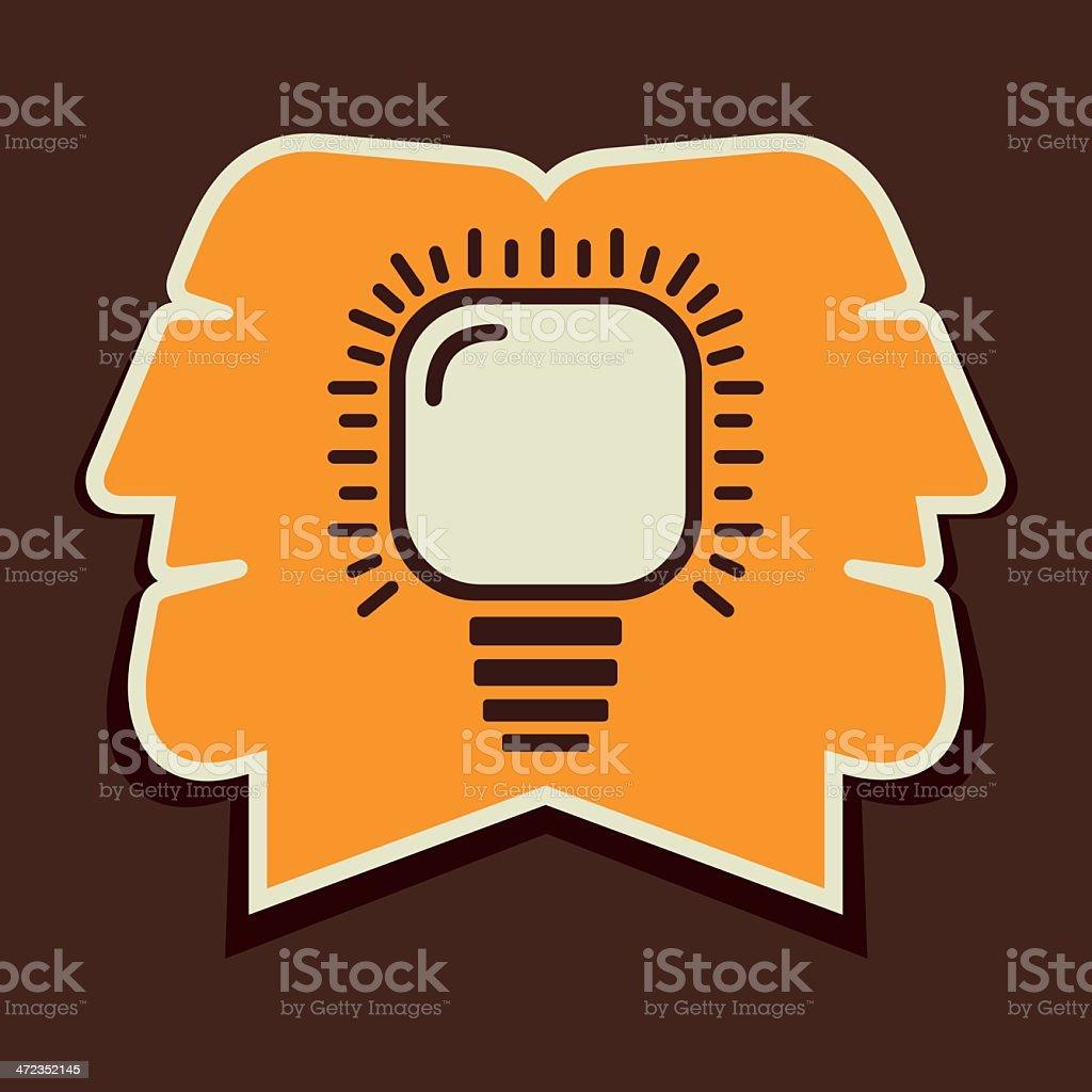 bulb in head royalty-free stock vector art