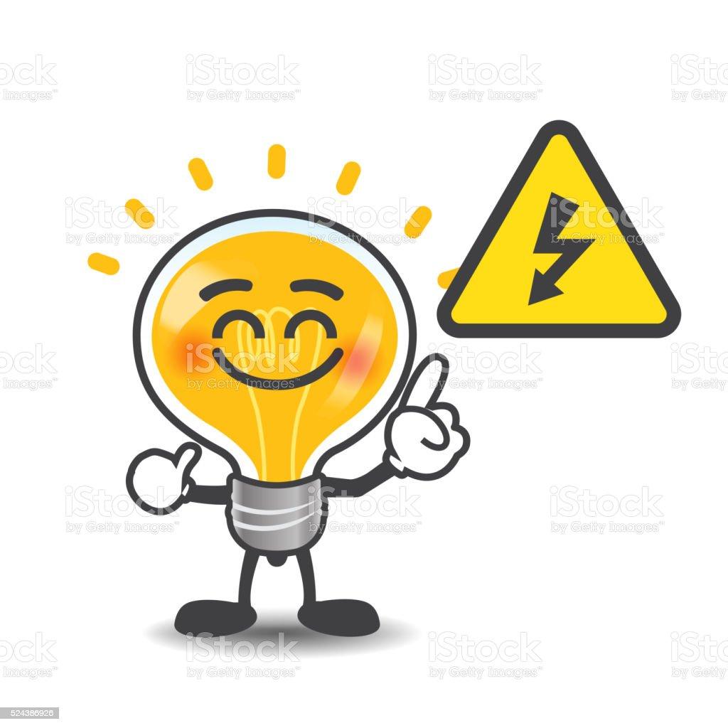 gl hbirne lampe comic zeigt elektro macht voltsymbol isoliert stock vektor art und mehr bilder. Black Bedroom Furniture Sets. Home Design Ideas