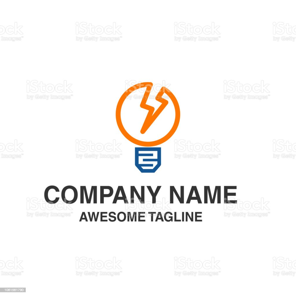Bulb Lamp Electrical Logo Innovation Idea Electricity Symbol Template Ready For Use Royalty