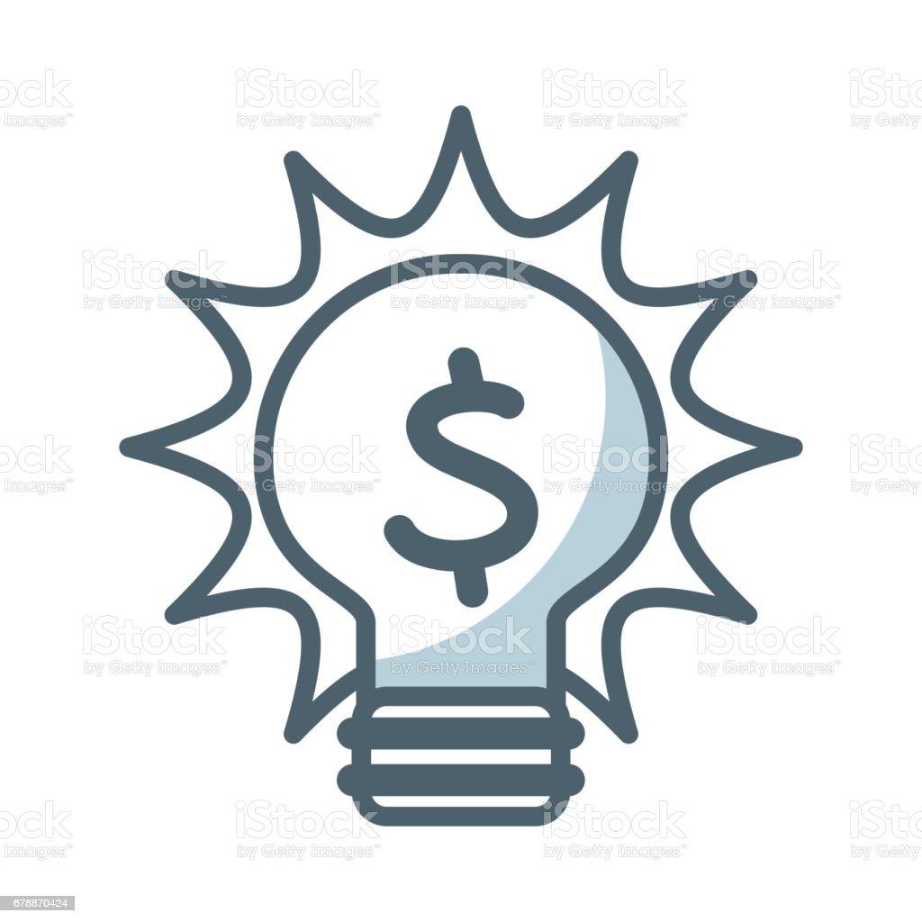icône plate lumière ampoule icône plate lumière ampoule – cliparts vectoriels et plus d'images de ampoule à basse consommation libre de droits