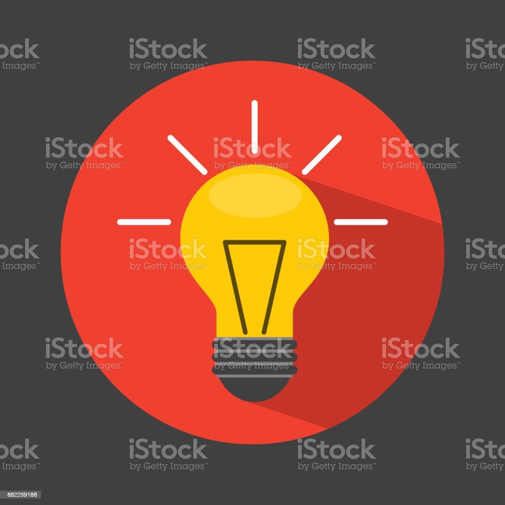 bulb light icon design vector art illustration
